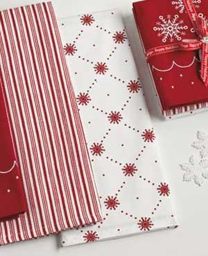 Sweet Snowflakes Dishtowel
