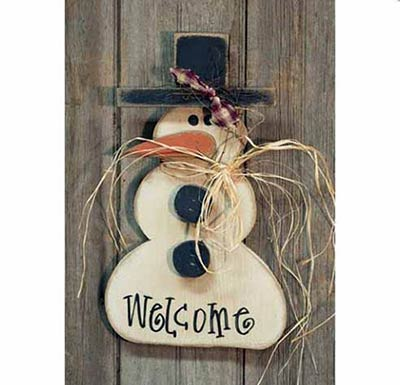 Welcome Snowman Hanger - 18 inch