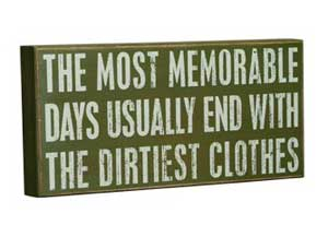 Most Memorable Days Box Sign