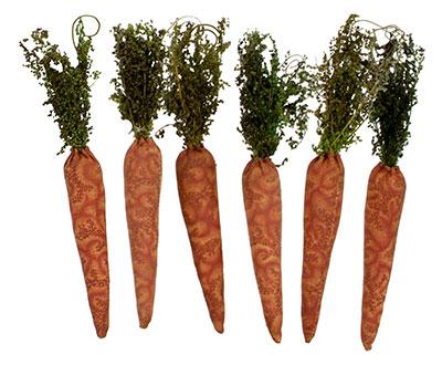 Fabric Carrot Ornament