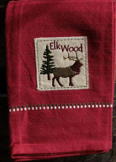Elk Applique Dishtowel