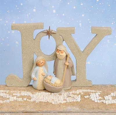 Joy Nativity Figurine