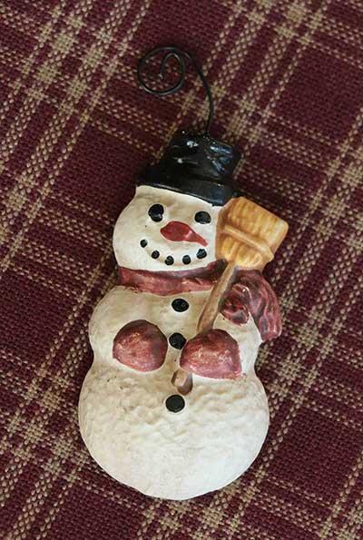 Resin Snowman Ornament