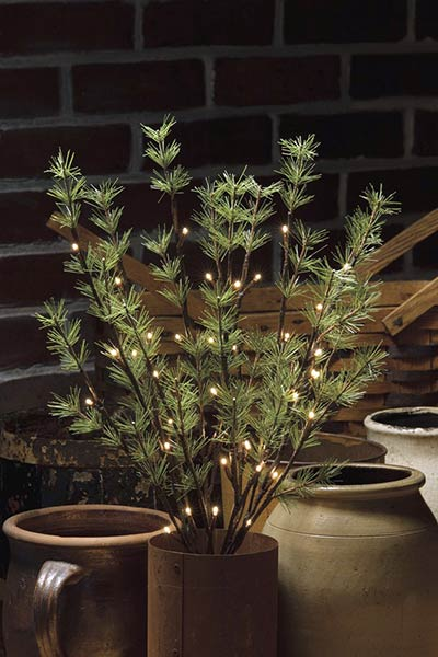 Pine Twigs Lighted Branch
