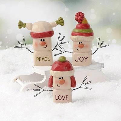 Marshmallow Snowmen (Set of 3)