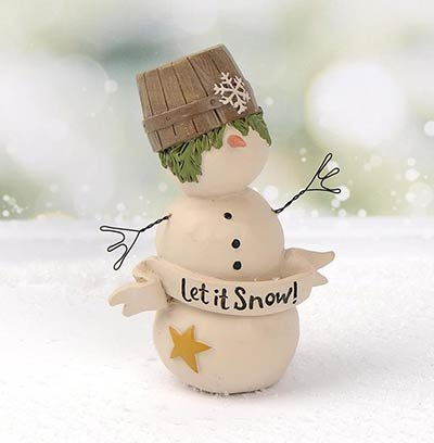 Let it Snow Snowman with Crate Hat
