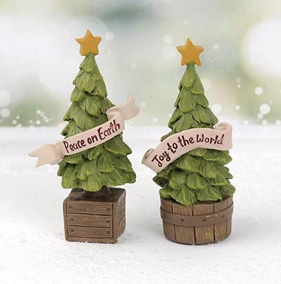 Christmas Tree in Crate with Banner