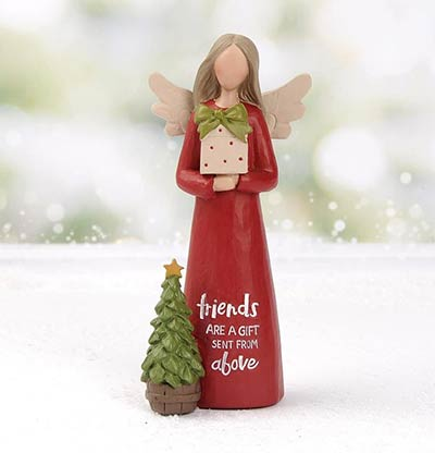 Friends are a Gift Christmas Angel Figurine