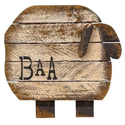 Baa Sheep Wall Decor