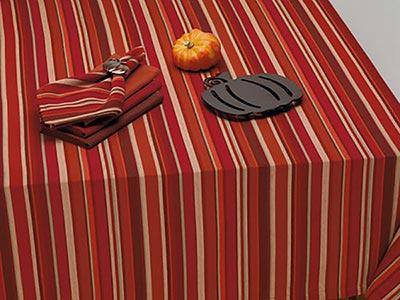 Harvest Pumpkin Stripe Napkins (Set of 4)