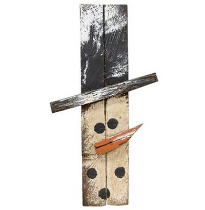 Skinny Mini Lath Snowman Head Hanger - 12 inch
