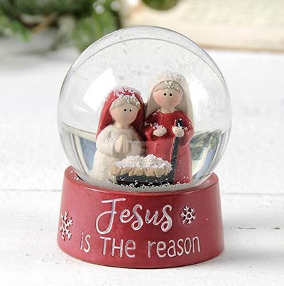 Jesus is the Reason Snow Globe