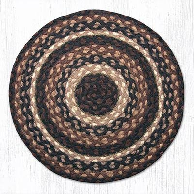 Mocha and Frappuccino Braided Jute Chair Pad