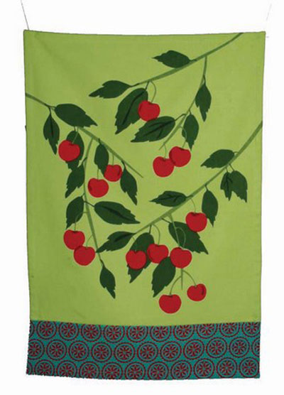 Jardin Cherries Dishtowel