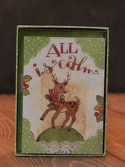 Dancing Reindeer Artisan Petite Christmas Cards
