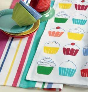 Cupcake Dishtowel