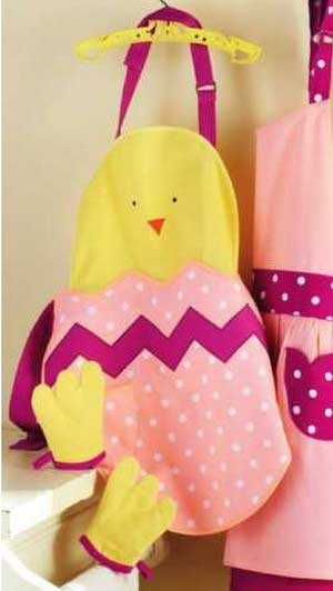 Baby Chick Apron & Mitt Set