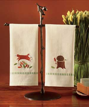 Foxy Fall Friends Guest Towel