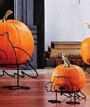 Owl Pumpkin Stand, Small