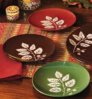 Fall Leaf Appetizer Plate