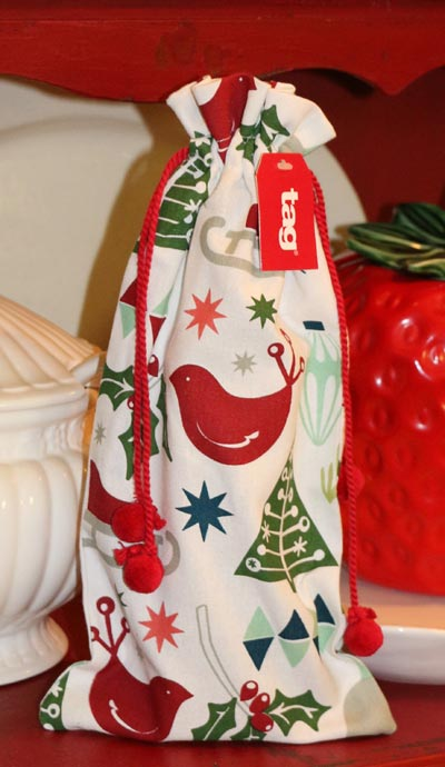 Happy Holidays Wine Bottle Sack
