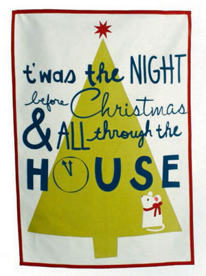 Twas the Night Dishtowel