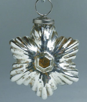 Mercury Star Ornament, Silver