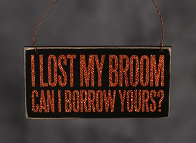 Lost Broom Box Sign Plaque