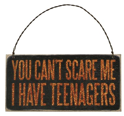 Can't Scare Me Box Sign Plaque
