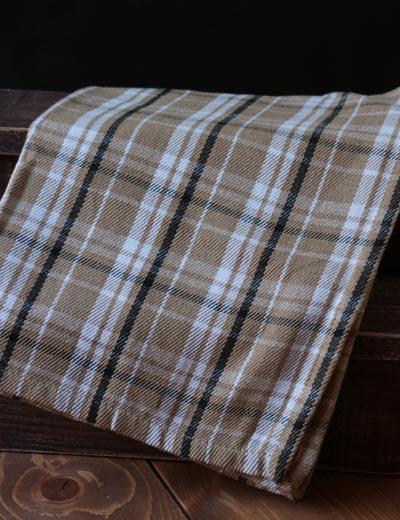 Brown Plaid Dishtowel