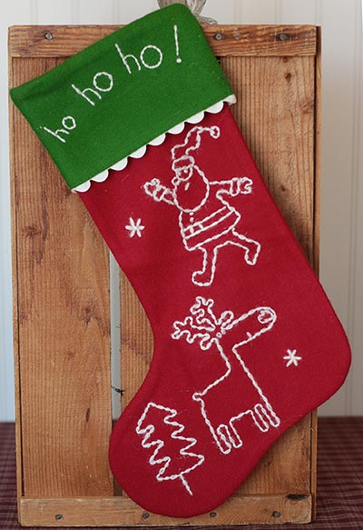 Magic of Christmas Felt Stocking
