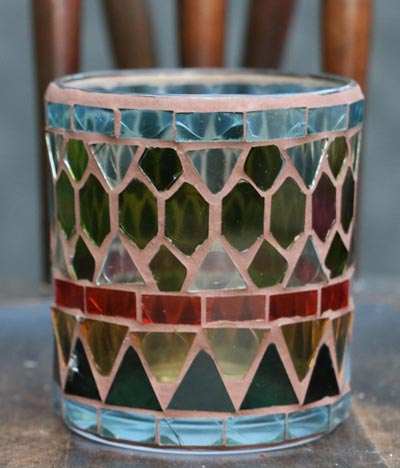 Plymouth Mosaic Glass Votive