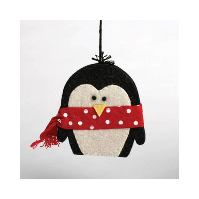 Perky Penguin Felt Ornament