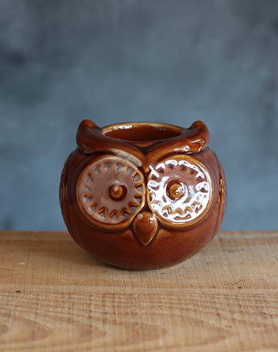 Owl Tealight Candle Holder