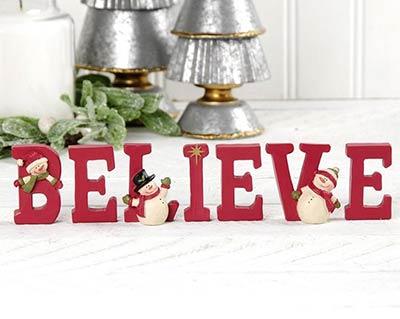 Believe Letters With Snowmen