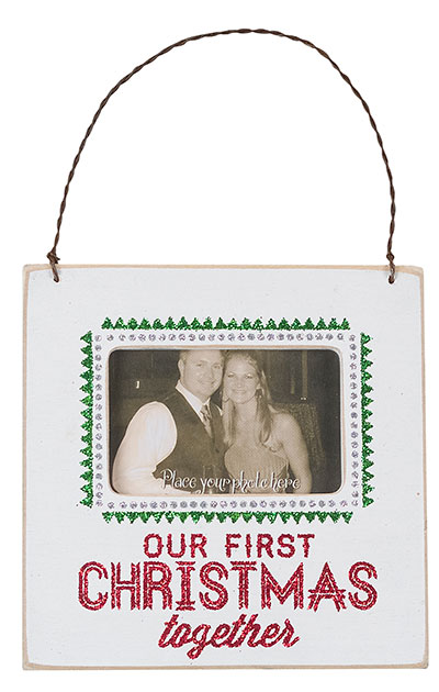 Our First Christmas Fancy Frame, Ornament, or Magnet