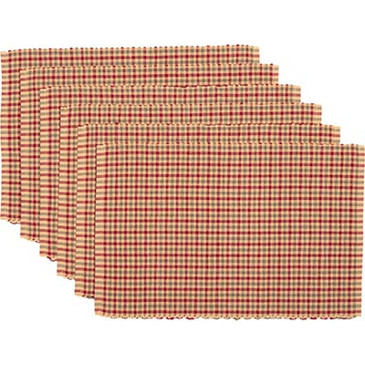 Jonathan Christmas Plaid Ribbed Placemats (Set of 6)