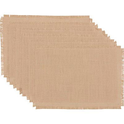 Burlap Natural Jute Placemats (Set of 6)