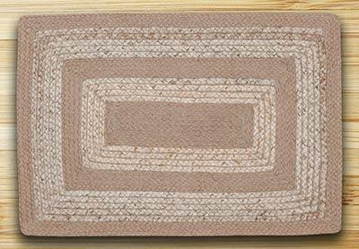 Raw Sugar & Ecru Braided Jute Rug - Oval (Special Order Sizes)