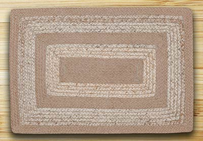 Raw Sugar & Ecru Braided Jute Rug - 20 x 30 inch (OVAL)
