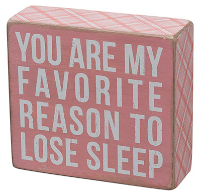 My Favorite Reason Box Sign - Pink