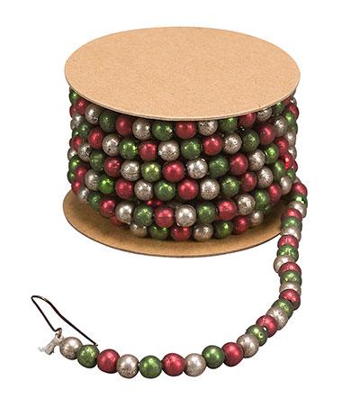 Mini Bead Garland - Red & Green