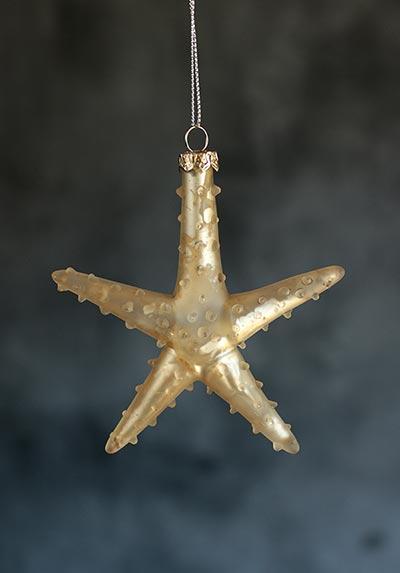 Starfish Glass Ornament