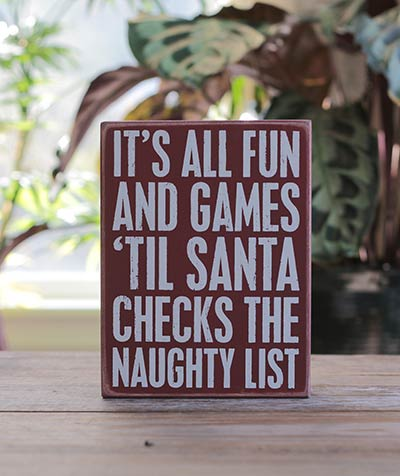 Fun & Games Box Sign