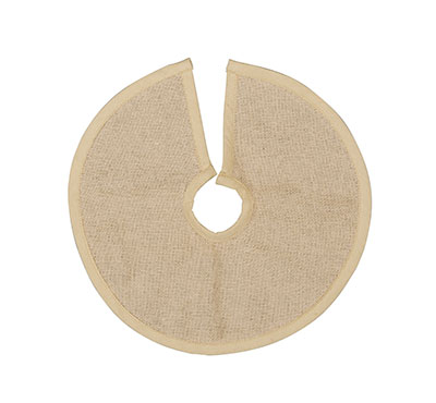 Natural Burlap Tree Skirt – 12 inch