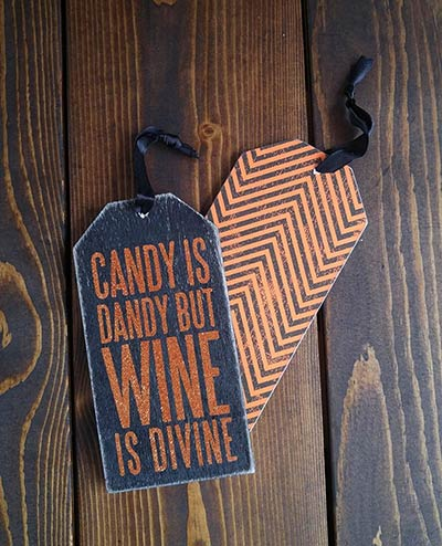 Candy is Dandy Ornament or Bottle Tag