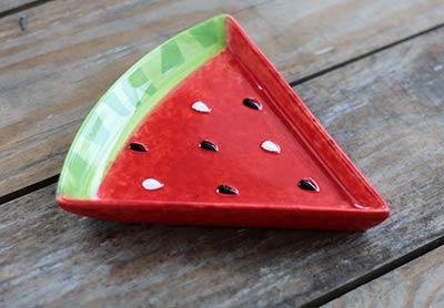 Juicy Watermelon Wedge Plate