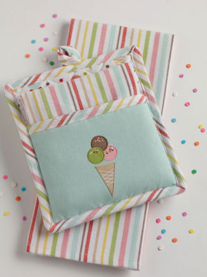 Ice Cream Party Pot Holder Set