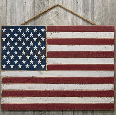 American Flag Pallet Sign