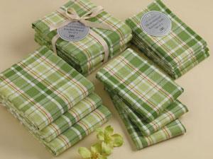 Garden Plaid Heavyweight Dishcloths (Set of 3)